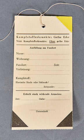 WWII German Wound Tag