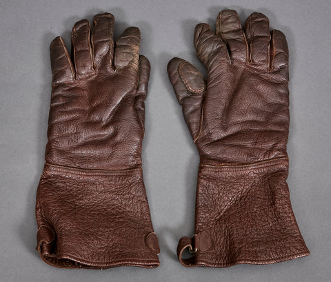 WWII German Brown Leather Gloves