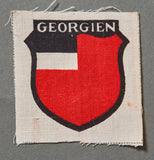 WWII German 1st Pattern Georgian Volunteer Sleeve Shield