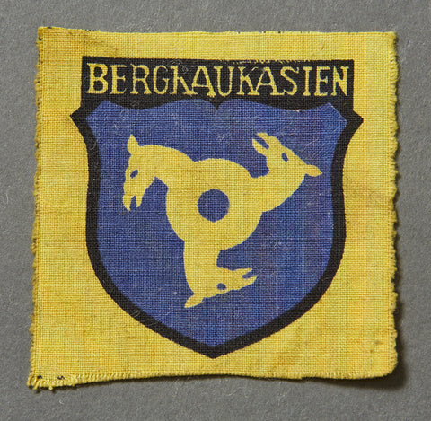 WWII German 2nd Pattern Georgian Volunteer Sleeve Shield