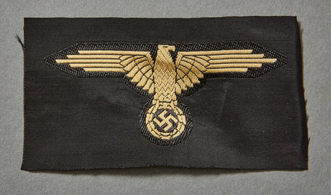 "WWII German Waffen-SS ""Tropical"" Sleeve Eagle w/RZM Tag"