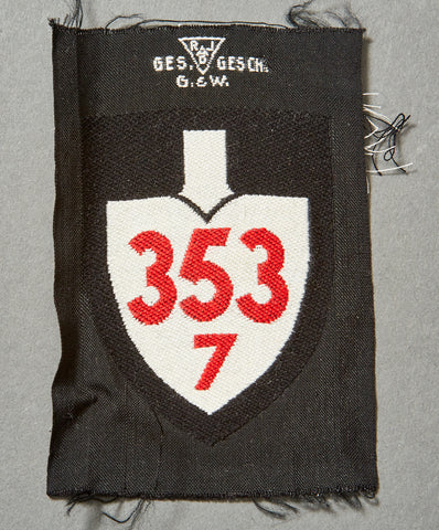 WWII German RAD Enlisted Ranks Sleeve Shield