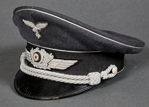 WWII German Luftwaffe Officer Private Purchase Visor Cap