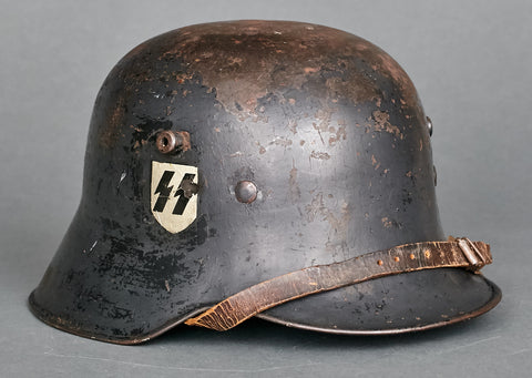 German Model 1918 Allgemeine SS Double Decal Helmet