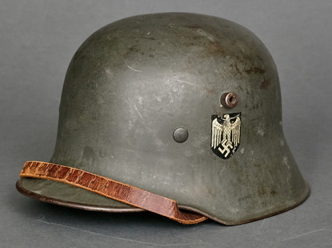 WWII German Model 1918 Army Transitional Double Decal Helmet