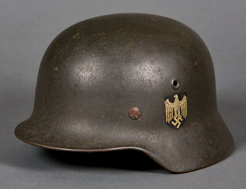 WWII German Army Model 1940 Single Decal Helmet