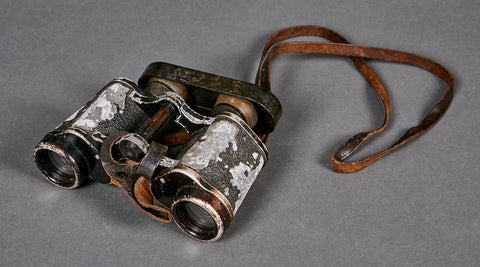 WWII German 6 x 30 Binoculars with Cover and Strap