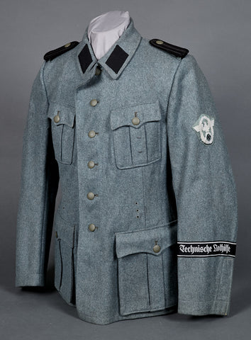 WWII German TeNo Police Combat Tunic for Anwarter, RARE