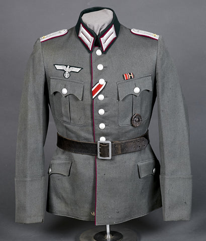 WWII German Army Nebeltruppen Officer Dress Tunic, Named