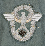 WWII German Schutzpolizei Officer Four Pocket Service Tunic