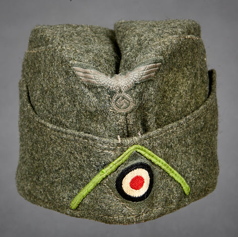 WWII German Army Side Cap for Other Ranks Panzer Grenadier Personnel