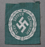 WWII German Schuma Officer Sleeve Shield