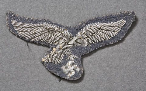 WWII German Luftwaffe Officer Breast Eagle, Tunic Removed