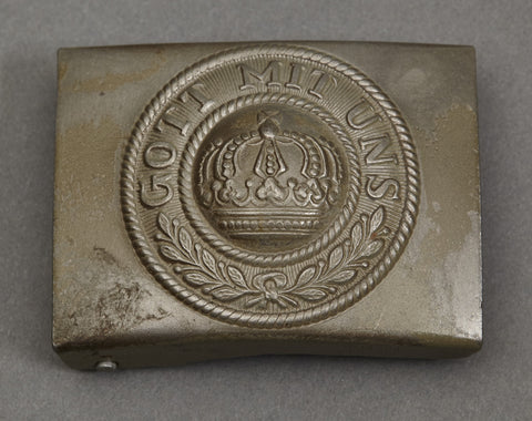 WWI German Army Other Ranks Steel Buckle