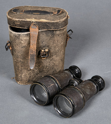 WWI Vintage German Binoculars w/Case