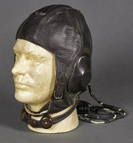 WWII German Luftwaffe LKpW101 Leather Flying Helmet