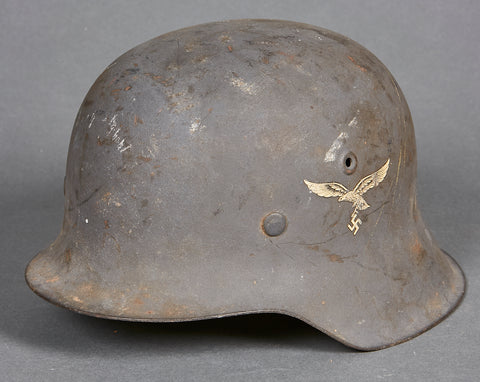 WWII German Model 1942 Luftwaffe Single Decal Combat Helmet