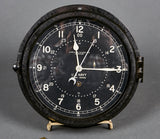 WWII US Navy 12/24 Hour Military Clock by Chelsea Clock, Boston