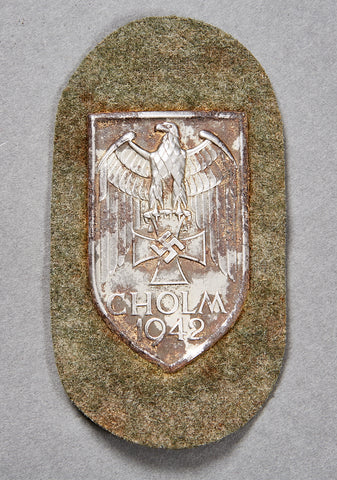 WWII German Army Cholm Campaign Shield