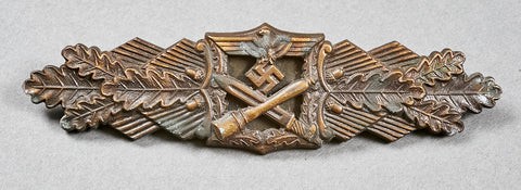WWII German Close Combat Clasp in Bronze by JFS