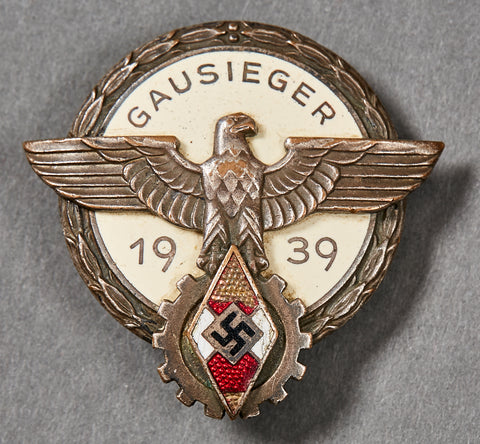 Desirable Gausieger 1939 Hitler Youth Badge Vocational Contest Badge, 1939 by Gustav Brehmer
