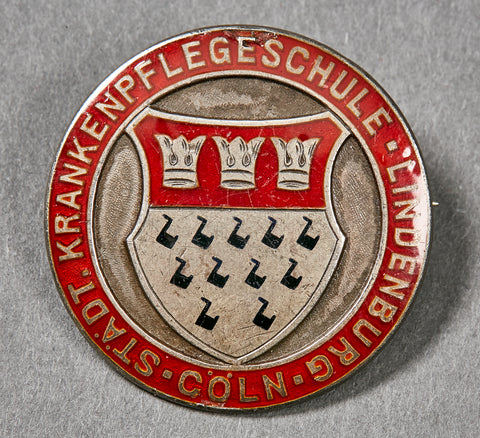 Third Reich State Nursing School Pin, 950 Silver