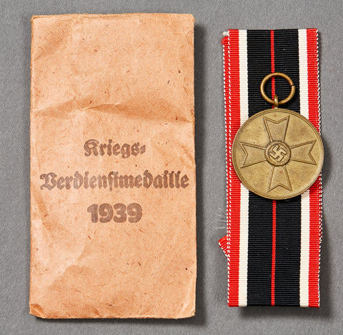 WWII German War Merit Cross 2nd Class w/Ribbon and Packet