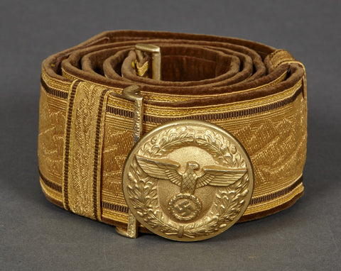 WWII German Political Leaders Brocade Belt and Buckle