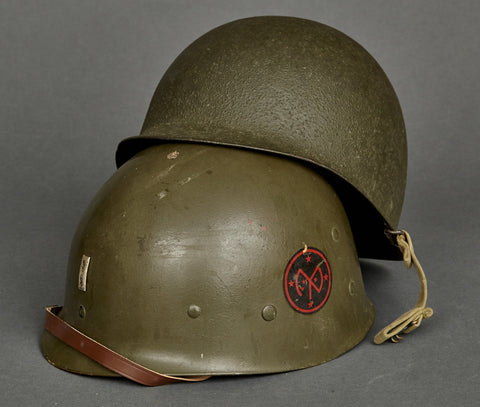WWII US M-1 Helmet for 27th Infantry Division Lieutenant