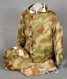 WWII German Wehrmacht Tan and Water Camouflage Jacket, Trousers and Glove Set