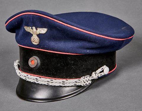 German WWII NAZI Fire Police Visor Cap for Officers