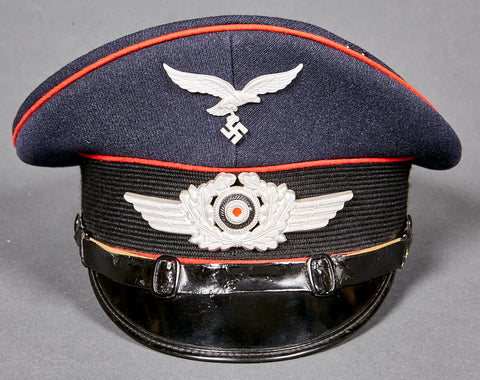 "German WWII Luftwaffe Artillery Visor Cap for ""Other Ranks"""