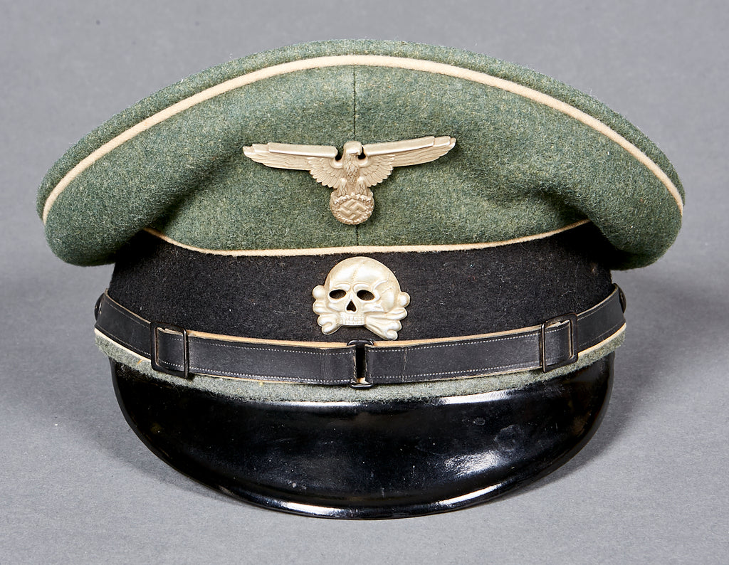 "0d827214fac German WWII Early Waffen SS ""Other Ranks"" Visor Cap – The ..."