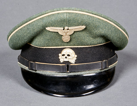 "German WWII Early Waffen SS ""Other Ranks"" Visor Cap"