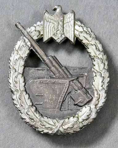 German WWII Navy Coastal Artillery Badge by Schwerin
