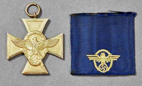 German WWII 25 Year Police Long Service Award