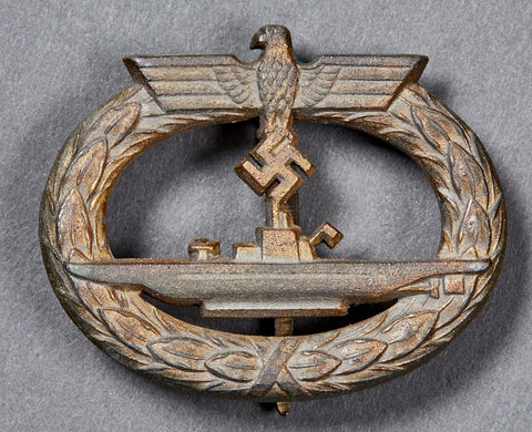WWII German Kriegsmarine U-Boat Badge Marked 65