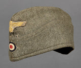 WWII German Kriegsmarine Coastal Artillery Other Ranks Overseas Cap, French Made