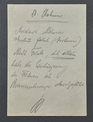 Reichsmarschall Hermann Göring Hand Signed Note from Nürnberg Trials