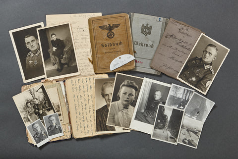 WWII German Soldbuch/Wehrpaß/Dog Tag and MORE Grouping