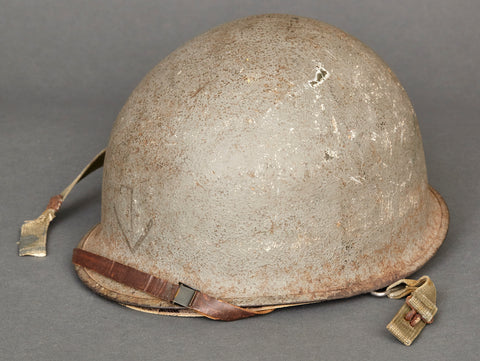 WWII US Navy M-1 Helmet, Squadron Marked