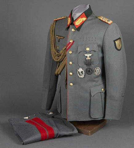 Army Generalleutnant der Infanterie Karl Allmendinger Ensemble to Include Tunic and Pants