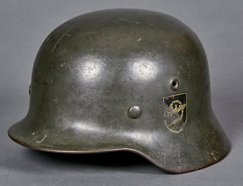 WWII German Model 1940 Police Combat Helmet