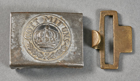 German Imperial WWI Enlisted Man's Steel Combat Buckle