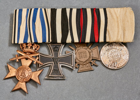 WWI German Four Medal Bar
