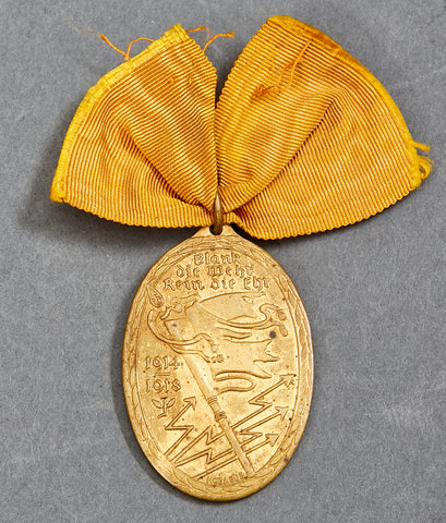 WWI War Commemorative Medal of the Kyffhäuser Union