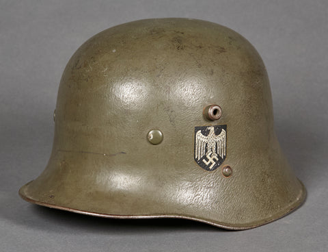 WWII German Army Model 1916 Reissue Double Decal Helmet