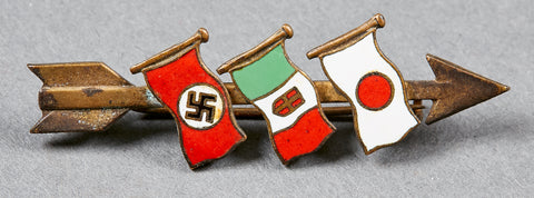 Italo German Japanese Axis Pin Back