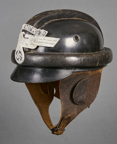 German WWII Second Model NSKK Motorcycle Crash Helmet