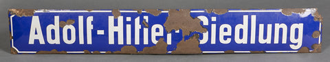 Adolf Hitler Street Sign